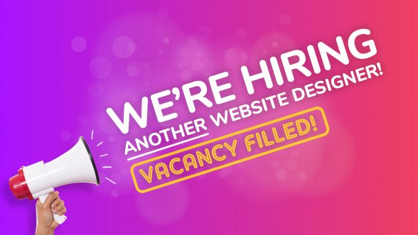 We're hiring another Website Designer!